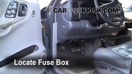 interior fuse box location 1998 2003 dodge durango 1999. Black Bedroom Furniture Sets. Home Design Ideas