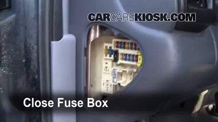 Interior fuse box location 1998 2003 dodge durango 1999 for 06 jeep liberty window regulator recall