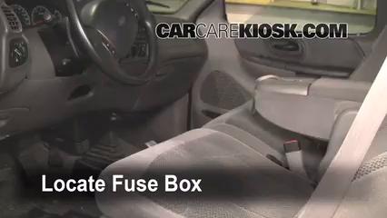 Interior Fuse Box Location 1997 2004 Ford F 150 1999