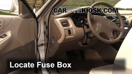 interior fuse box location: 1998-2002 honda accord - 1998 ... 1998 honda accord lx fuse box