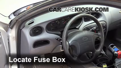 interior fuse box location 1996 2000 hyundai elantra. Black Bedroom Furniture Sets. Home Design Ideas