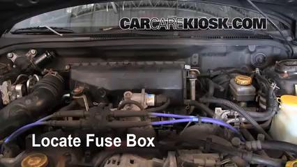 blown fuse check 2002 2003 subaru impreza 2002 subaru impreza locate engine fuse box and remove cover
