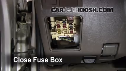 Interior Fuse Box Location 1996 2002 Toyota 4Runner