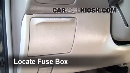 interior fuse box location 1998 2002 toyota corolla
