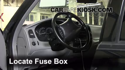 interior fuse box location   ford explorer