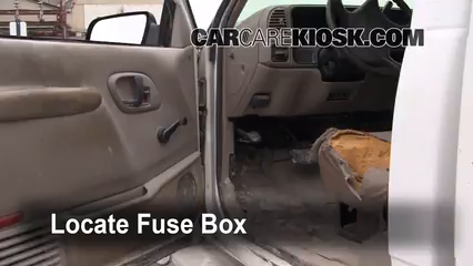 interior fuse box location 1992 1999 chevrolet c1500. Black Bedroom Furniture Sets. Home Design Ideas