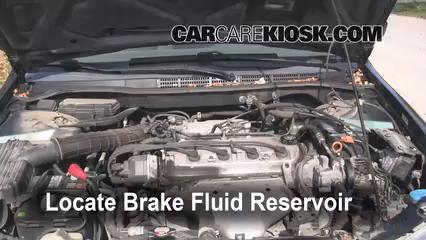 Add Brake Fluid 19982002 Honda Accord  2000 Honda Accord EX 23