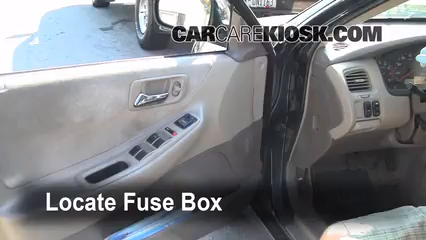 interior fuse box location 1998 2002 honda accord 2000 honda How To Replace A Fuse Box In A Car locate interior fuse box and remove cover how to replace a fuse box in a 1965 mustang