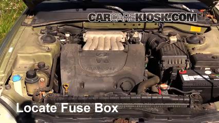 blown fuse check 1999 2001 hyundai sonata 2000 hyundai sonata locate engine fuse box and remove cover