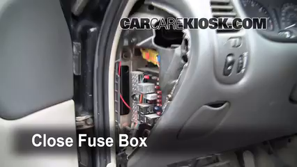 interior fuse box location 1999 2004 oldsmobile alero 2000 secure the cover and test component