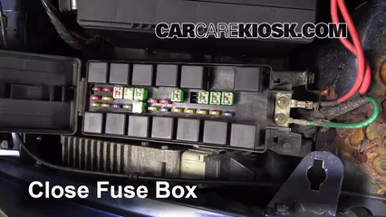 replace a fuse 1996 2000 dodge caravan 1997 dodge caravan 3 3l v6 6 replace cover secure the cover and test component