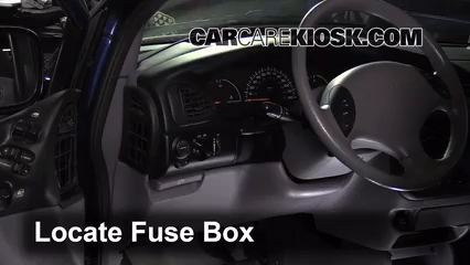 interior fuse box location dodge grand caravan  locate interior fuse box and remove cover
