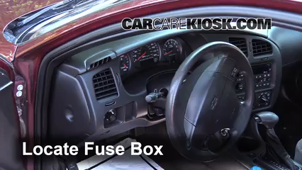 Interior Fuse Box Location 2000 2005 Chevrolet Monte