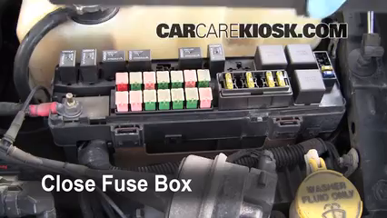 replace a fuse 1999 2004 chrysler 300m 1999 chrysler 300m 3 5l v6 6 replace cover secure the cover and test component