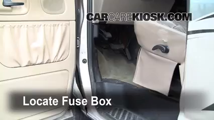 interior fuse box location 1990 2007 ford e 150 econoline
