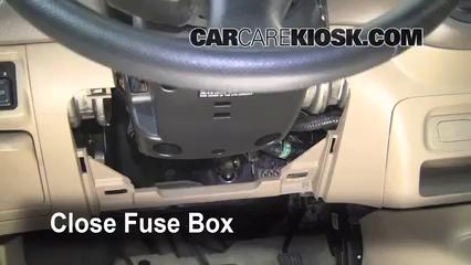 interior fuse box location 2001 2005 honda civic 2001 2006 honda ridgeline fuse box