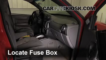 interior fuse box location 2001 2005 pontiac aztek 2003. Black Bedroom Furniture Sets. Home Design Ideas