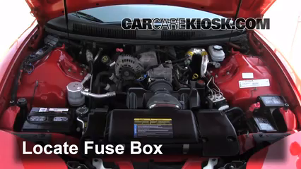 replace a fuse 1993 2002 chevrolet camaro 2000 chevrolet camaro locate engine fuse box and remove cover