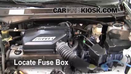 blown fuse check 2001 2005 toyota rav4 2001 toyota rav4 2 0l 4 cyl locate engine fuse box and remove cover