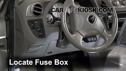 interior fuse box location 2002 2006 acura rsx 2002. Black Bedroom Furniture Sets. Home Design Ideas