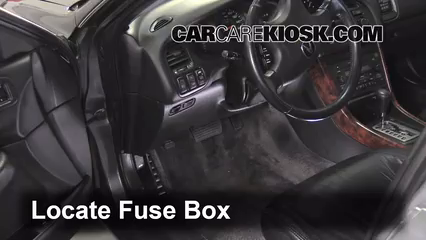 interior fuse box location 1999 2003 acura tl 2002 acura tl 3 2l v6 locate interior fuse box and remove cover