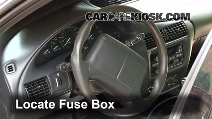 interior fuse box location 1995 2005 chevrolet cavalier 2003 interior fuse box location 1995 2005 chevrolet cavalier 2003 chevrolet cavalier 2 2l 4 cyl coupe 2 door