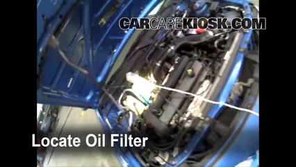 Oil filter location ford escort zx2