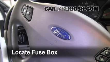 Interior Fuse Box Location 2000 2007 Ford Taurus 2002