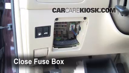 Interior Fuse Box Location 2002 2006 Lexus ES300 2002
