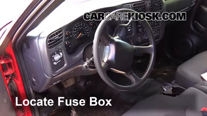 interior fuse box location 1994 2004 chevrolet s10 1999 interior fuse box location 1994 2004 chevrolet s10 1999 chevrolet s10 2 2l 4 cyl standard cab pickup