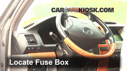 interior fuse box location 1999 2003 lexus rx300 2001. Black Bedroom Furniture Sets. Home Design Ideas