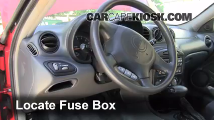 Interior Fuse Box Location 1999 2005 Pontiac Grand Am
