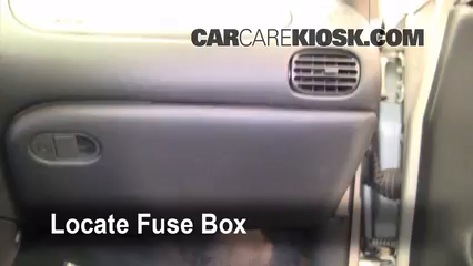 interior fuse box location pontiac grand prix  locate interior fuse box and remove cover