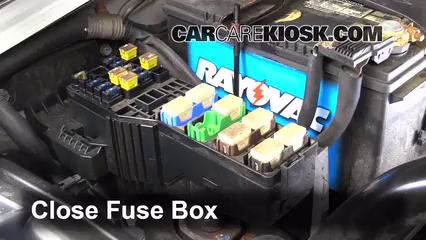 replace a fuse suzuki xl suzuki xl touring 6 replace cover secure the cover and test component