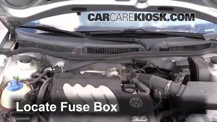 blown fuse check 1999 2005 volkswagen jetta 2004 volkswagen Jetta Fuse Box locate engine fuse box and remove cover jetta fuse box