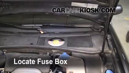 blown fuse check 1998 2005 volkswagen passat 2004 volkswagen locate engine fuse box and remove cover