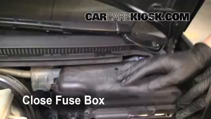 blown fuse check 1998 2004 audi a6 2004 audi a6 3 0l v6 6 replace cover secure the cover and test component