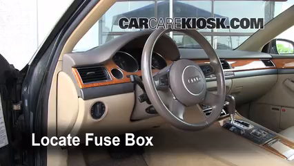 Interior Fuse Box Location: 2004-2010 Audi A8 Quattro ...