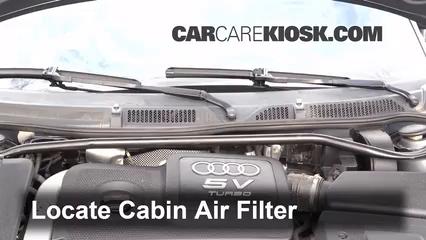 cabin filter replacement audi tt quattro 2000 2006 2004. Black Bedroom Furniture Sets. Home Design Ideas
