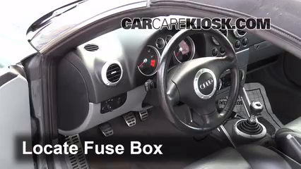 interior fuse box location audi tt quattro audi interior fuse box location 2000 2006 audi tt quattro 2004 audi tt quattro 1 8l 4 cyl turbo convertible