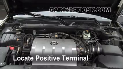 Battery Locate Part on 2001 Cadillac Deville Battery Location