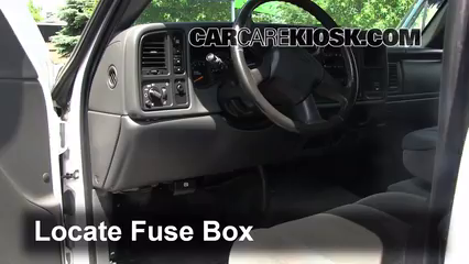 interior fuse box location chevrolet silverado  interior fuse box location 1999 2007 chevrolet silverado 1500 2005 chevrolet silverado 1500 lt 4 3l v6 extended cab pickup 4 door