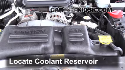 how to add coolant to dodge caravan