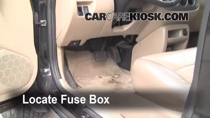 Interior Fuse Box Location 2001 2004 Ford Escape 2003