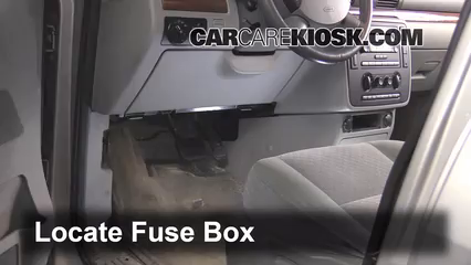 Interior Fuse Box Location 2004 2007 Ford Freestar 2004