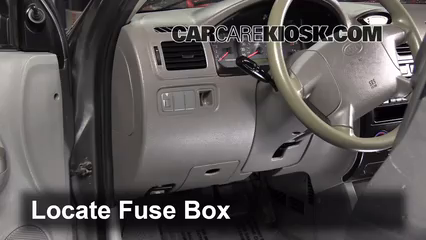 interior fuse box location 2001 2005 kia rio 2004 kia. Black Bedroom Furniture Sets. Home Design Ideas