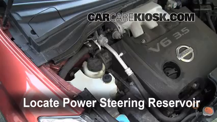 Follow These Steps To Add Power Steering Fluid To A Nissan Murano 2003 2007 2004 Nissan