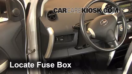 Custom Car Care >> Interior Fuse Box Location: 2004-2006 Scion xA - 2004 ...