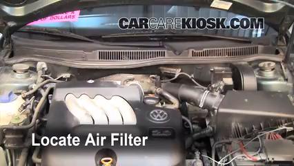 cabin filter replacement volkswagen jetta    volkswagen jetta gl   cyl sedan