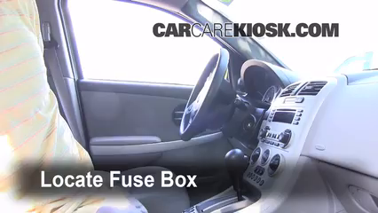 interior fuse box location chevrolet equinox  interior fuse box location 2005 2009 chevrolet equinox 2005 chevrolet equinox ls 3 4l v6